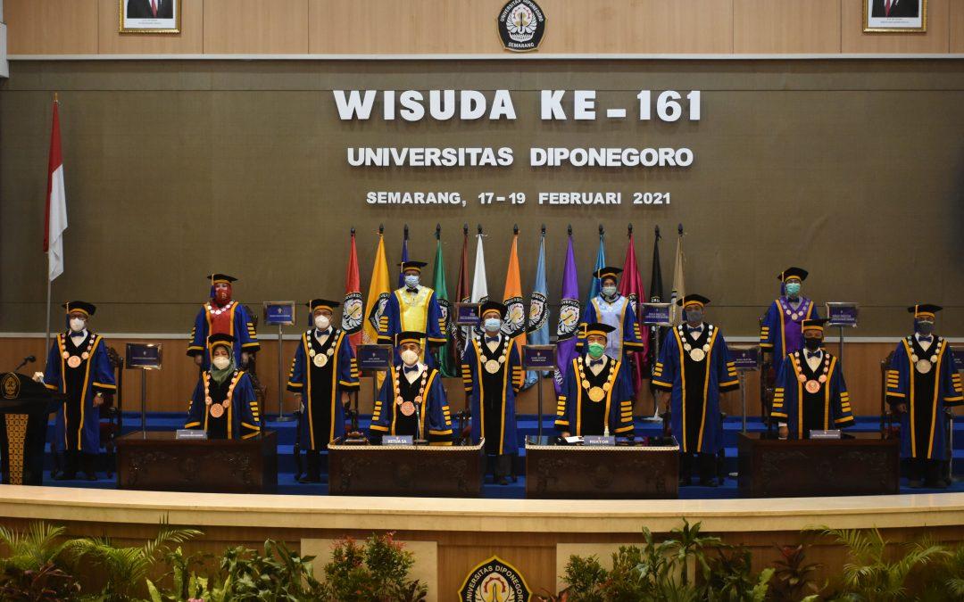 Sidang Senat Terbuka dengan acara Wisuda Ke-161 Universitas Diponegoro
